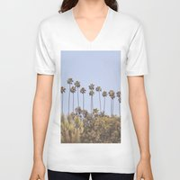 palms V-neck T-shirts featuring Palms by A. Williams
