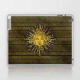 Apollo Sun Symbol on Greek Key Pattern Laptop & iPad Skin