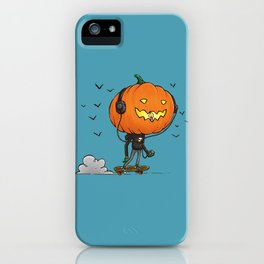 The Skater Pumpkin iPhone Case