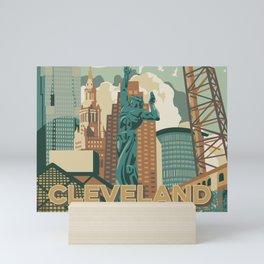 Cleveland City Scape Mini Art Print