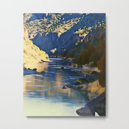 Rio Grande at the John Dunn Bridge on a Winters Day by CheyAnne Sexton Metal Print