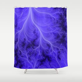 Lightning Nebula Shower Curtain