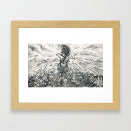 Shattered Abandon Framed Art Print