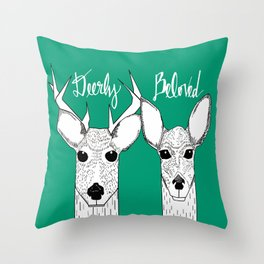 Deerly Beloved Throw Pillow
