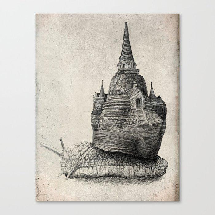 The Snail's Dream (monochrome option) Canvas Print
