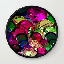 Crytals by Lika Ramati Wall Clock