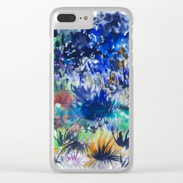 Watercolor wetland landscape Clear iPhone Case