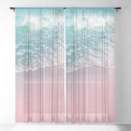 Ocean Beauty Dream #1 #wall #decor #art #society6 Sheer Curtain