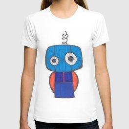 Cute Little Blue Robot T-shirt