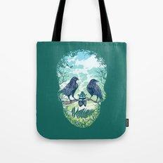 Nature's Skull (Green) Tote Bag