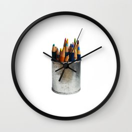 Colors of my Childhood Wall Clock