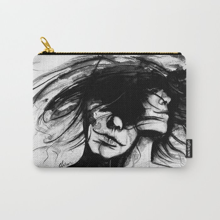 """Time is like the wind, it lifts the light and leaves the heavy"" Carry-All Pouch"