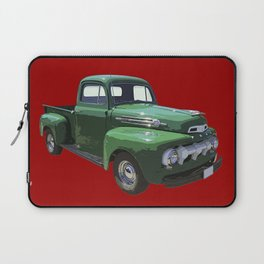 Green 1951 Ford F-1 Pickup Truck  Laptop Sleeve