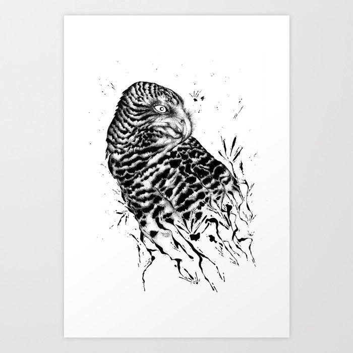 Harriet Owl Art Print
