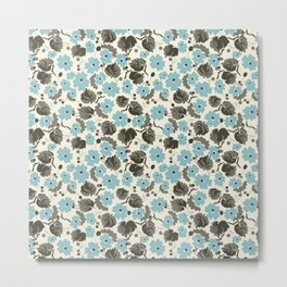 Blue Flowers Metal Print