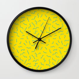 Postmodern Germs No. 1 in Canary Yellow Wall Clock