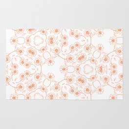 Daisy Chain Orange Rug