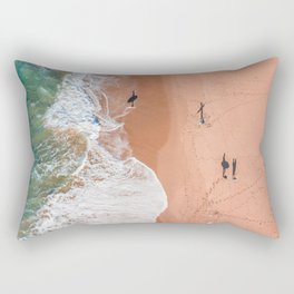 Surf Footprints Rectangular Pillow