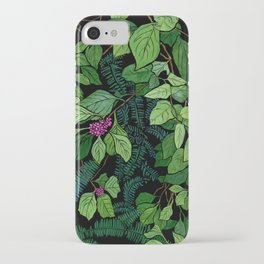 Green and Purple Beautyberry Illustration iPhone Case