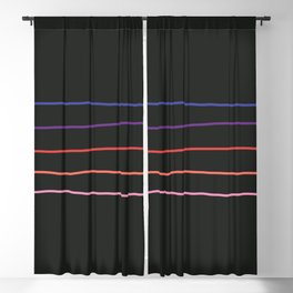 Abstract Retro Stripes #4 Blackout Curtain