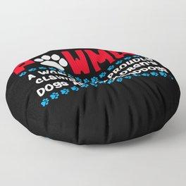 Pawma Definition Design für eine Oma von niedlichen Hunden print Floor Pillow