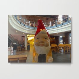 Gnome at Faneuil Hall Marketplace/Quincy Market Boston Metal Print