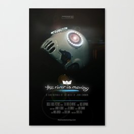 The River is Moving - CINEMA POSTER Canvas Print