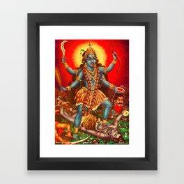 bhairav-attributes-kali Framed Art Print
