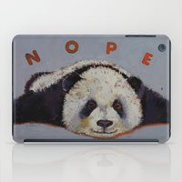 nope iPad Cases featuring Nope by Michael Creese
