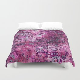 Messy Pink Foral Duvet Cover