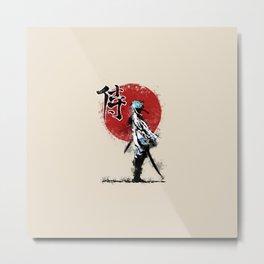 white samurai Metal Print