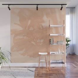 Bloom in Peach Tone Wall Mural