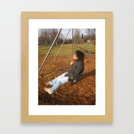 Best Friend In Motion Framed Art Print