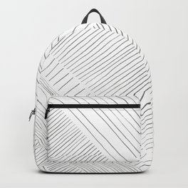 Graphite stripes pattern Backpack
