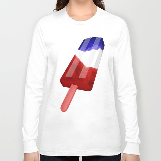 Popsicle Red White and Blue Long Sleeve T-shirt