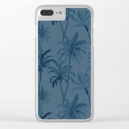 Watercolor Palm Trees 3 Clear iPhone Case
