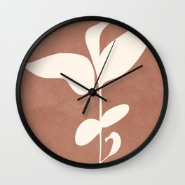 Little Leaves II Wall Clock