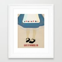 alice wonderland Framed Art Prints featuring Alice In Wonderland by magicblood