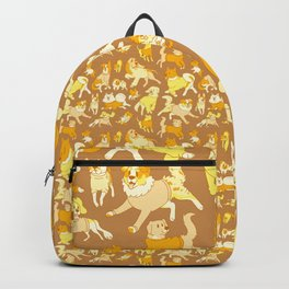 Dogs In Sweaters (Brown) Backpack