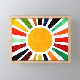 Sun Retro Art Framed Mini Art Print