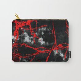 Horror Night Goth - Black and White,Red Carry-All Pouch