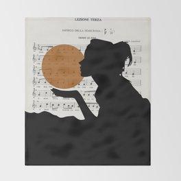 Music in the sun Throw Blanket