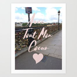 With All My Heart, Paris Art Print