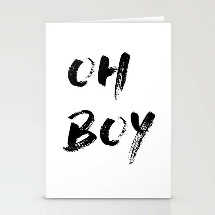 OH BOY Quote Stationery Cards