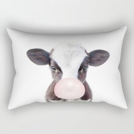 Bubble Gum Baby Cow Rectangular Pillow