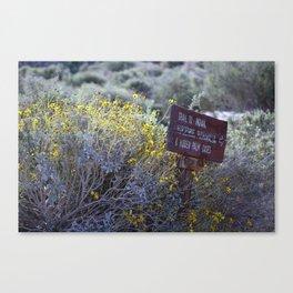 Sign Marking Trails At ... Wildlife Preserve Canvas Print