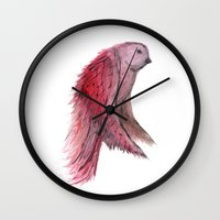 birdy Wall Clocks featuring birdy! by gasponce