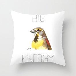 Big Dickcissel Energy Throw Pillow
