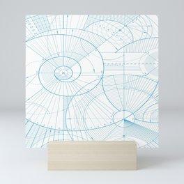Geometric Schooling Art Mini Art Print