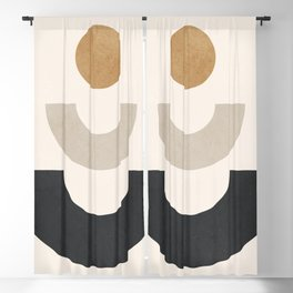 Minimal Geometric 35 Blackout Curtain